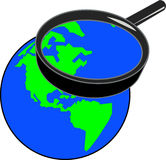 Magnifying earth Royalty Free Stock Photos