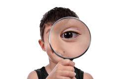 Magnifying eye Royalty Free Stock Image