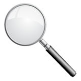 Magnifying glass. Icon over white background. To see more detailed vectors go to my portfolio Royalty Free Stock Photos