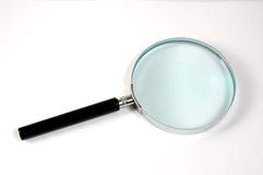 Magnifying glass. On white background Stock Photos
