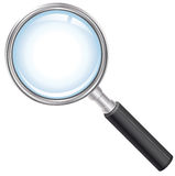 Magnifying glass. Vector illustration showing the magnifying glass royalty free illustration