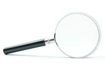 Magnifying Glass. On white background with shadow royalty free stock photos