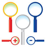 Magnifying glass. Illustration of magnifying glass on white background Royalty Free Stock Images
