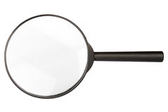 Magnifying glass. Isolated on white background Royalty Free Stock Images