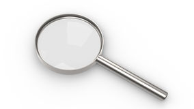 Magnifying Glass. On white background, Shadows Royalty Free Stock Image