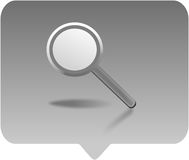 Magnifying glass. Icon -  computer generated clipart Stock Photo