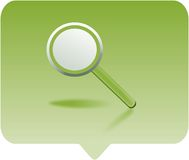 Magnifying glass. Icon -  computer generated clipart Stock Photography