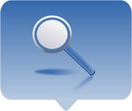 Magnifying glass. Icon -  computer generated clipart Royalty Free Stock Photography