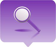 Magnifying glass. Icon -  computer generated clipart Stock Photos