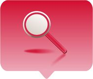 Magnifying glass. Icon -  computer generated clipart Royalty Free Stock Images