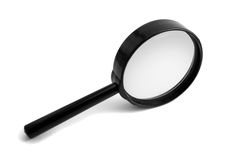 Magnifying glass 2. Magnifying glass isolated on white Stock Photo