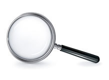 Magnifying glass. Computer illustration, isolated on the white Stock Photo