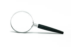 Magnifying glass. Isolated on white background Royalty Free Stock Photo