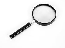 Magnifying Glass. On white Stock Image