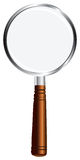 Magnifying glass. With wooden handle. Vector illustration Royalty Free Stock Images