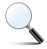 Magnifying glass. Zoom lens Stock Image