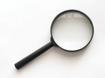 Magnifying glass. Isolated on the white Royalty Free Stock Images