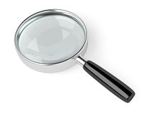 Magnifying Glass. A magnifying glass on white background. Computer generated image with clipping path Stock Photo