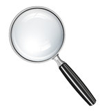 Magnifying glass. For search, exploration, study stock illustration
