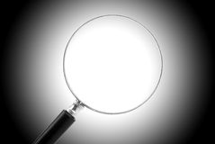 Magnifying Glass. On gradient background, with path Stock Image