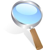 Magnifying glass. Royalty Free Stock Photo