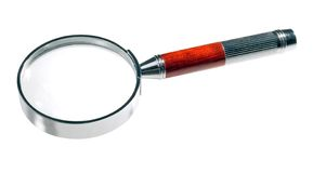 Magnifying Glass. Isolated on a white background; with clipping path Stock Image