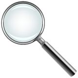 Magnifying glass against white Royalty Free Stock Photo