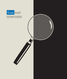 Magnifying glass black Royalty Free Stock Image