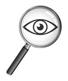 A magnifying glass Royalty Free Stock Photo