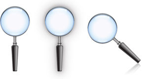 Magnifying Glass. With blue glass, edge highlight and reflection royalty free stock images