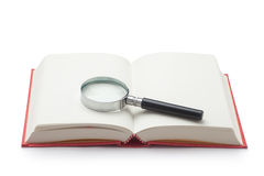 magnifying glass and book Royalty Free Stock Photos