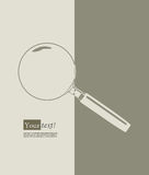 Magnifying glass brown Royalty Free Stock Photos