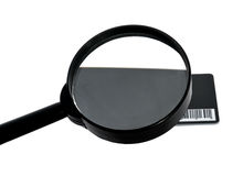 Magnifying glass and card Stock Photos