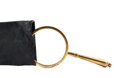 Magnifying glass in a case Royalty Free Stock Photography