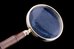 Magnifying glass close up Stock Photos
