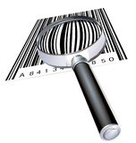 Magnifying glass and code Royalty Free Stock Photos