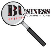 Magnifying glass - competitors Stock Image
