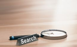 Magnifying Glass. Concept of Web Search Stock Image