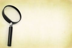 Magnifying glass with copy space Stock Photo