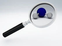 Magnifying glass 3d. Image of magnifying glass. 3d illustration stock illustration