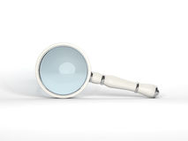 Magnifying Glass 3D rendering Royalty Free Stock Image