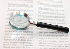 Magnifying Glass and document Royalty Free Stock Photography