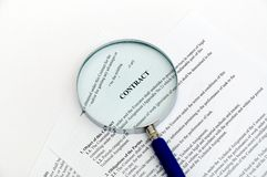 Magnifying Glass and document Royalty Free Stock Images