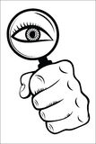Magnifying Glass with Eye Stock Images