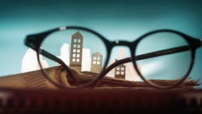 Concept of rent, search, purchase real estate. stock image