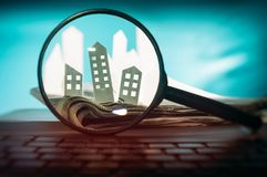 Concept of rent, search, purchase real estate. stock photos