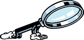 Magnifying Glass Guy Royalty Free Stock Image