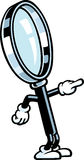 Magnifying Glass Guy Stock Image