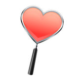 Magnifying glass with heart style vector Stock Photo