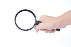 Magnifying glass hovering over. A magnifying glass hovering over as Inspection Stock Photos